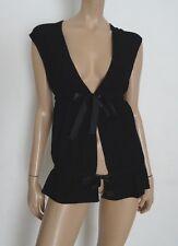 Gilet noir DIAB'LESS noir / ruban satin noir taille unique
