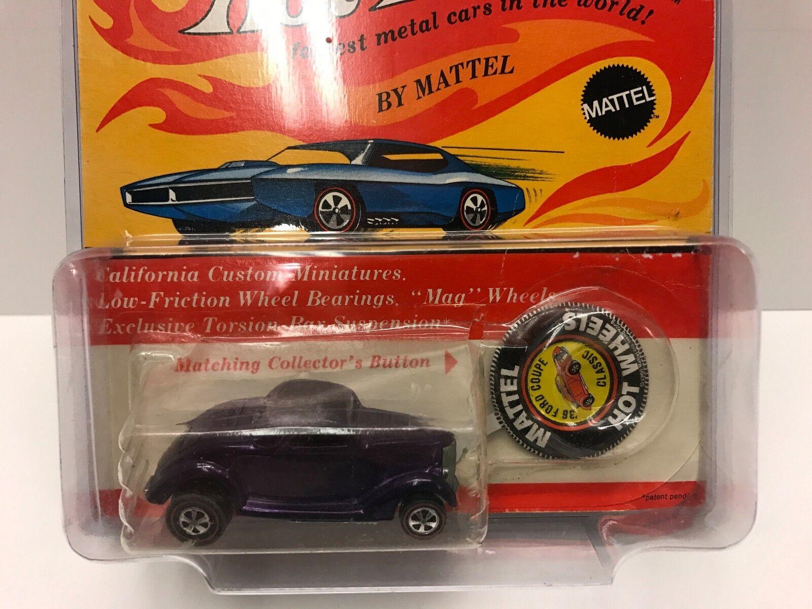 Hot wheels rougeline violet 36 Coupé Ford très belle en blister
