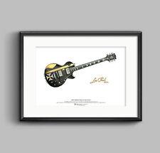 James Hetfield's Gibson Les Paul Iron Cross ART POSTER A3 size