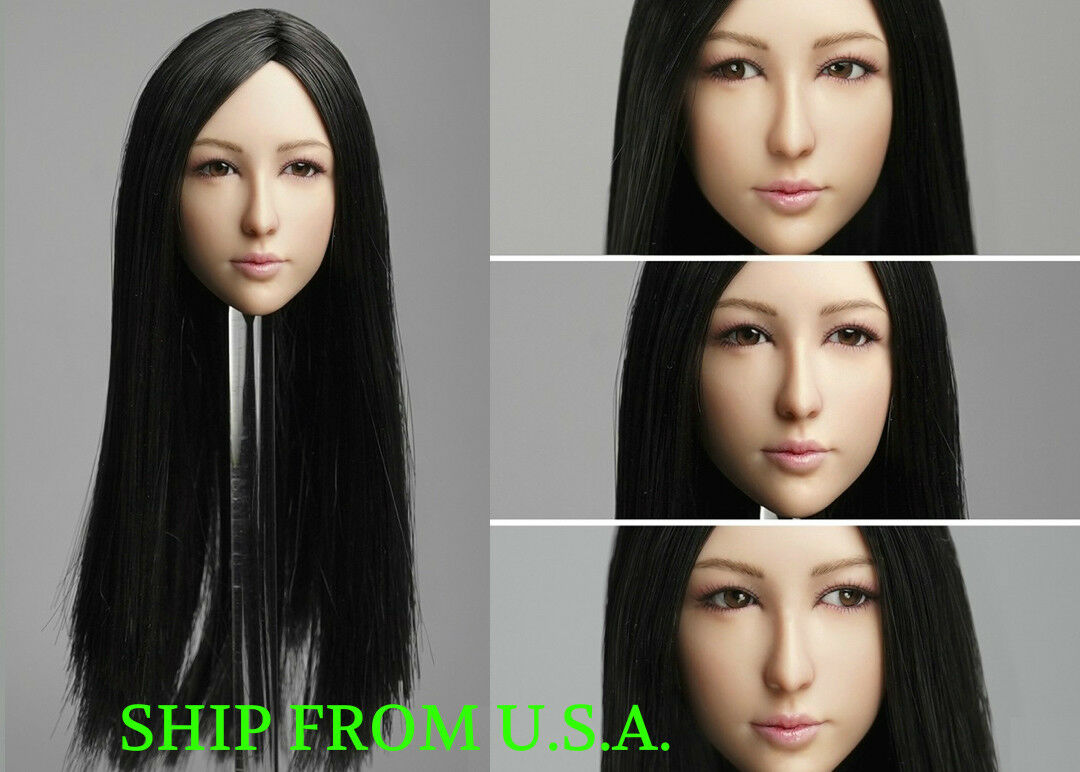 1 6 6 6 Female Head Sculpt C MOVABLE EYES For 12  PHICEN Hot Toys Figure ❶USA❶ fd907c