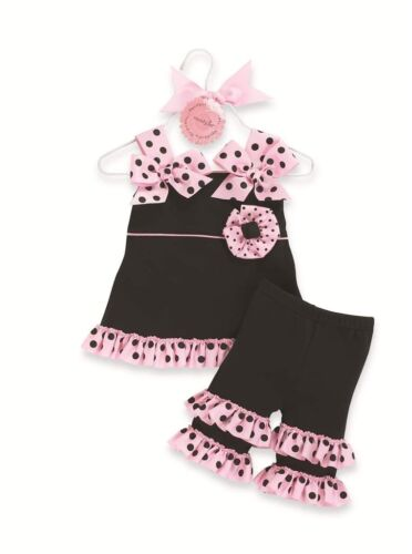 Perfectly Princess Tunic and Ruffle Capri Outfit by Mud Pie NWT 9-12-18m 2T//3T