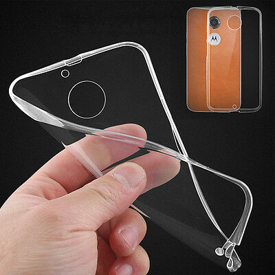Ultra Thin Transparent Clear Soft TPU Case Cover Skin For Motorola Moto G/E/X 2
