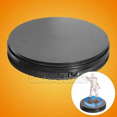 """Black 35cm / 14"""" 50KG 360° Heavy Duty Rotating Display Stand Turntable US"""