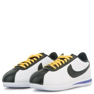 newest f97ca ed9b2 Image is loading Nike-Cortez-Leather-Mens-Shoes-White-Amarillo-Black-