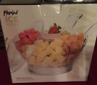 Parini Ice Series Serving Bowl With Ice Chiller And Lid