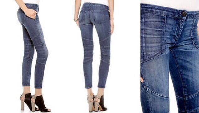 NEW 3X1 NYC Low Rise Biker Pant Jeans Size 28   395 NWT