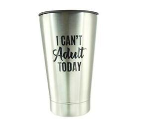 "Roughneck Stainless Steel 16oz Vacuum Beer Glass With Bottle Opener ""I Can't.."""