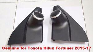 TOYOTA-HILUX-REVO-FORTUNER-2015-17-BLACK-TWEETER-MOULD-ORIGINAL-SIDE-IN-DOOR
