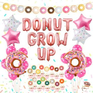 35pcs-Donut-Foil-Balloons-Set-Banner-Baby-Shower-Kids-Gifts-Birthday-Party-Decor