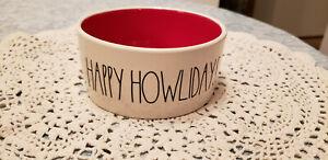NEW-Rae-Dunn-Holiday-Pet-Bowl-HAPPY-HOWLIDAYS-NEW-Dog-Cat