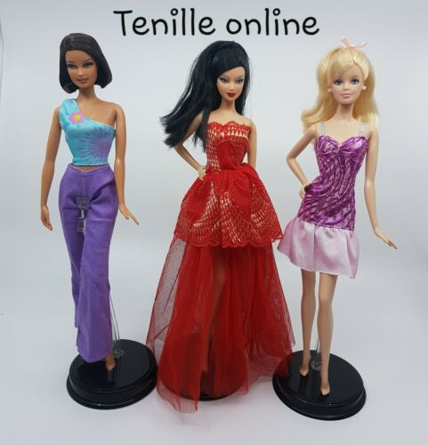 New Barbie doll outfits clothes dress x3  Au seller fast postage good quality