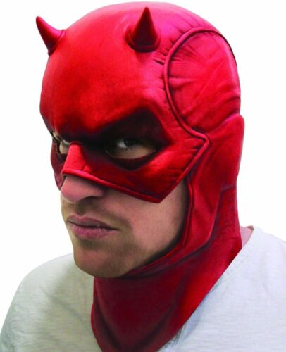 Daredevil Mask Adult Latex Marvel Comics Superhero Dare Devil Fast Ship