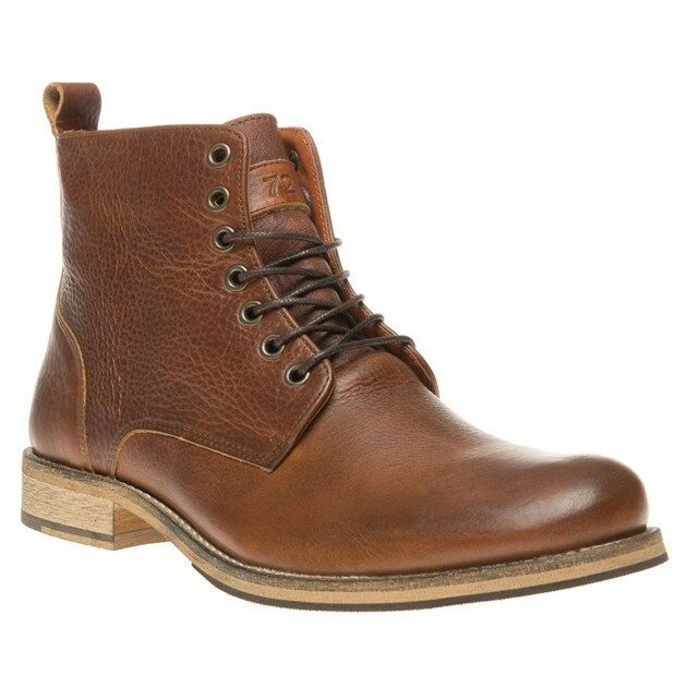 New Mens SOLE Tan Pitsea Leather Boots Lace Up