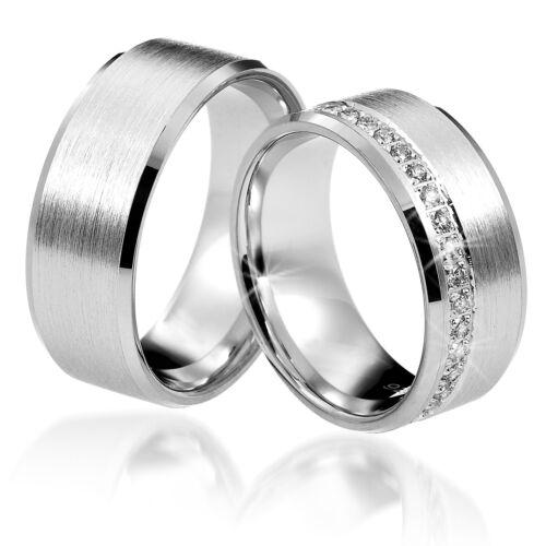 2 Trauringe 925 Silber GRAVUR Eheringe Verlobungsringe Partnerringe D8389 vj
