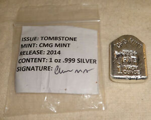 2014-Halloween-RIP-Tombstone-Polished-999-Fine-Silver-Bar-CMG-Mint-MINTAGE-15