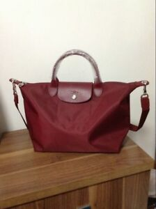 Image is loading Longchamp-Le-Pliage-Neo-Medium-Handbag-Wine-1515578009- 8cf61f4ee4611
