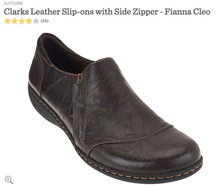 Clarks Cuero Slip-Ons con Cremallera Cremallera Cremallera Lateral-flanna Cleo Mujer Negro 8.5 Med  liquidación hasta el 70%