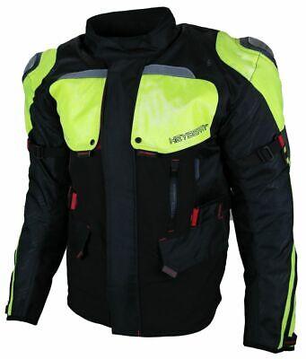 Heyberry Textil Motorrad Motorradjacke Sommer Schwarz Neon