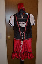 Adult Woman's Beer Garden Girl Charades Costume Size Large 11-13