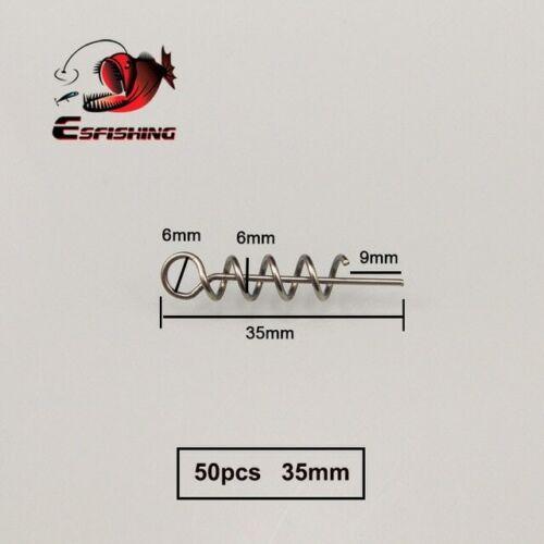 KESFISHING 50pcs 40mm 35mm 25mm Fishing Lock Twist Needle Latch Fixed Pins