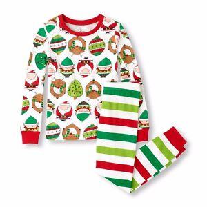 Tcp kid boy girl 2pc santa claus christmas trees elf reindeer pajamas