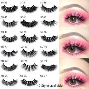 100-Mink-Hair-Natural-Long-Eye-Lashes-False-3D-Eyelashes-Handmade-Makeup-Hot