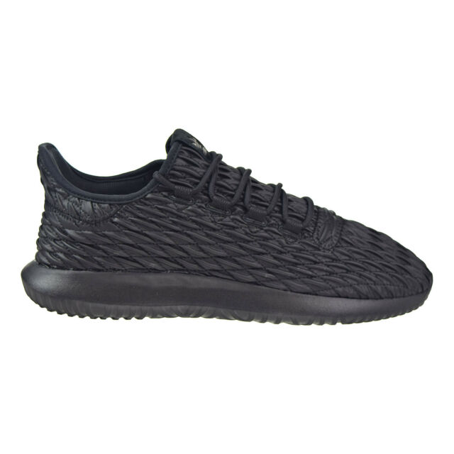 free shipping 8fd41 4d52c adidas Tubular Shadow Mens Bb8819 Black Asymmetrical 3d Suede Shoes Size 11