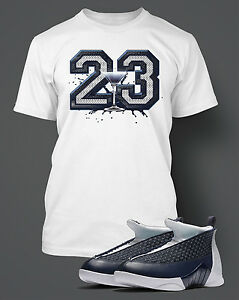 bedbb75e4cb T Shirt to Match AIR JORDAN 15 OBSIDIAN Graphic Pro Club Short ...