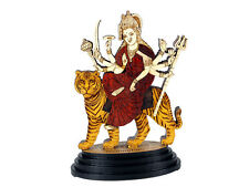 Car Dashboard Statue Religious Hindu God Durga Mata Wood Carved figurine