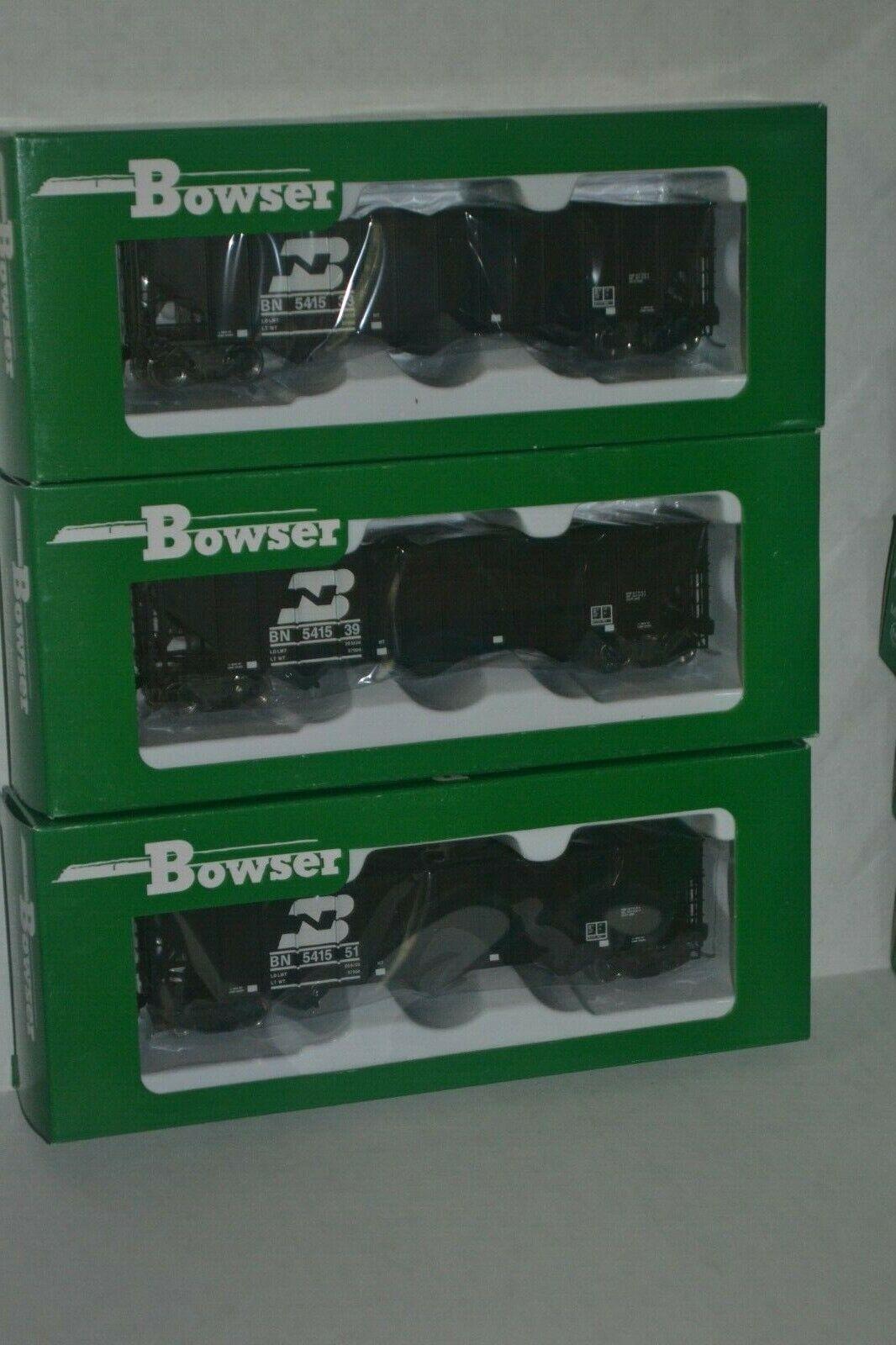 3 Bowser Burlington Northern BN 100t hopper Ho Scale 42137, 42138, 42139