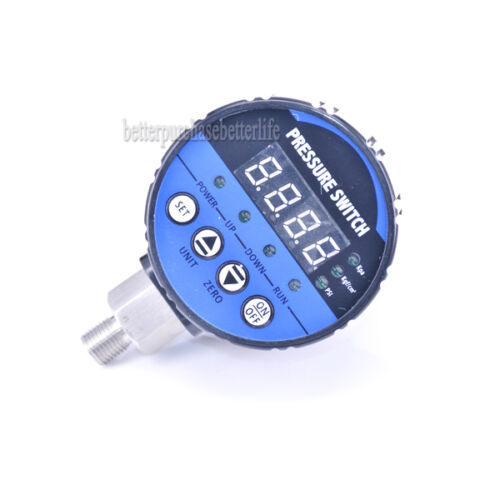 Digital Pressure Switch,2 Relay Output or 0 to 0.1Mpa Air Negative Vacuum Type