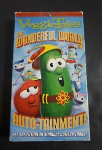 VeggieTales-Wonderful-World-Of-Auto-Tainment-2003-VHS-Children-Learning-Cartoon