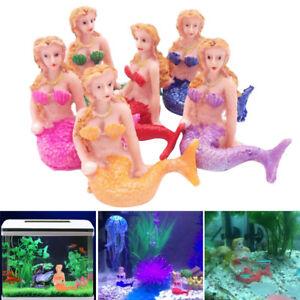 Details About Resin Cute Little Mermaid Fish Tank Aquarium Decorations  Ornaments Home Decor