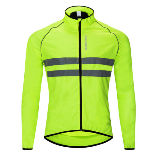 Reflective Cycling Jacket Breathable MTB Bike Riding Sports Jersey Hi-Vis Tops