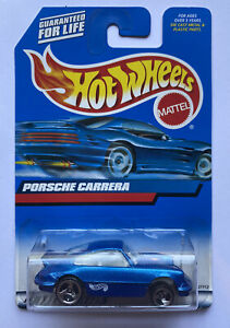 1999-HOTWHEELS-PORSCHE-911-CARRERA-BLU-Nuovo-di-zecca-molto-rara