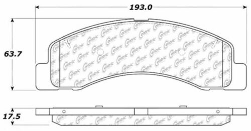 D756 FITS VEHICLES ON CHART BRAND NEW CTEK FRONT BRAKE PADS 102.07560
