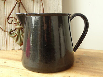 S5837 Email Water Jug 1920 Approx Pot Jug Black High Standard In Quality And Hygiene Enamel