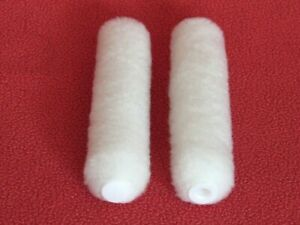 """Button End 20 White Mini Paint Rollers 6 """" x 3/8""""  solvent resistant"""