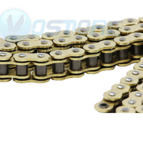 530 Gold O-Ring Chain 120 Links for Motorcycles Tensile 9850 pounds