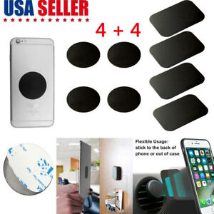 8-PCS-Metal-Plates-Sticker-Replace-For-Magnetic-Car-Mount-Magnet-Phone-Holder-US