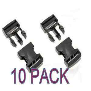 10-x-BLACK-25-mm-PLASTIC-SIDE-RELEASE-BUCKLES-QUICK-RELEASE-FOR-WEBBING