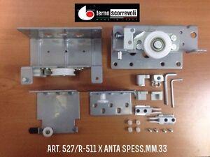 GUARNITURA-COMPLETA-527-R-511-TERNO-PER-ANTA-SCORREVOLE-ESTERNA-SP-MAX-mm-33
