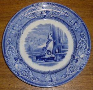 Antique-J-Clementson-Ironstone-Blue-Transfer-Plate-Sydenham-9-3-8-034