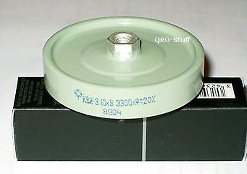 10kV 3.3nF 0.0033uF 3300pF High Voltage RF 15kV Doorknob Capacitor