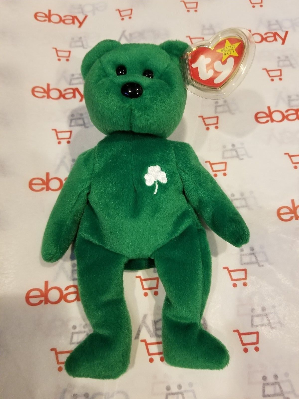 Ty Beanie Baby Erin The Bear 1997 with RARE errors  LIMITED EDITION 1 of 4000