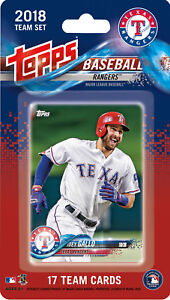 Texas-Rangers-2018-Topps-Baseball-Factory-Sealed-Team-Set-Beltre-Calhoun-Rookie
