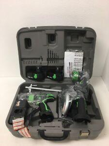 New Kawasaki 19.2V Combo 3 Tool Cordless Set W/ 2 Batteries & Case