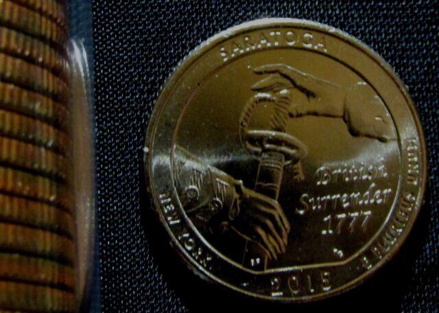 2015 US Saratoga Park Quarter Set One P/&One D From Mint Rolls