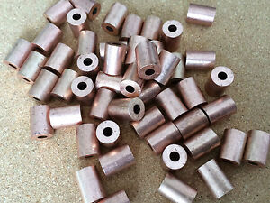 5x Copper Crimp End Stops 1.2mm 1.5mm Steel Wire Rope Stainless Rigging