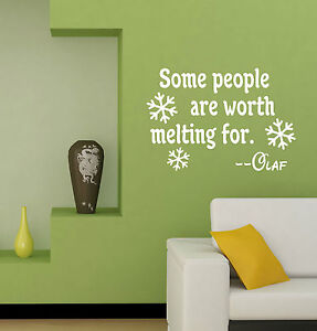 Worth-Melting-For-vinyl-QUOTE-Disney-FROZEN-Olaf-Snowflakes-decal-sticker-FO2